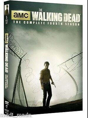 The Walking Dead:Complete Fourth Season 4 Four (DVD,2014,5-Disc Set) New
