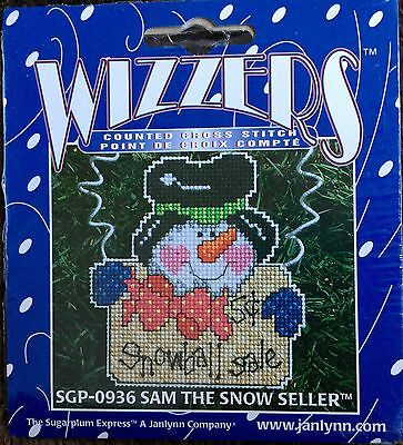 Janlynn Wizzers SAM THE SNOW SELLER counted cross stitch kit RARE SGP-0936