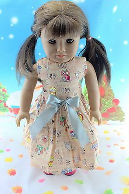 "cool New Doll Clothes fits 18"" American Girl Handmade Hot Summer Dress X51"