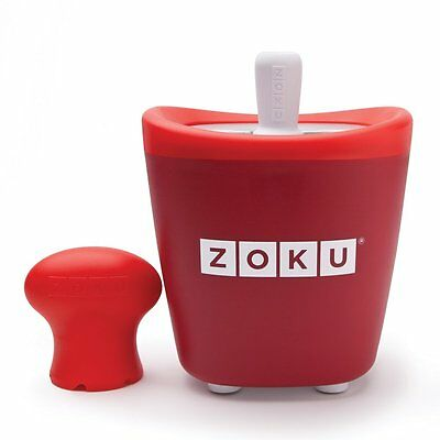 Zoku Single Quick Pop Ice Lolly Maker Red Easy Fun Summer Frozen Ice Lollies