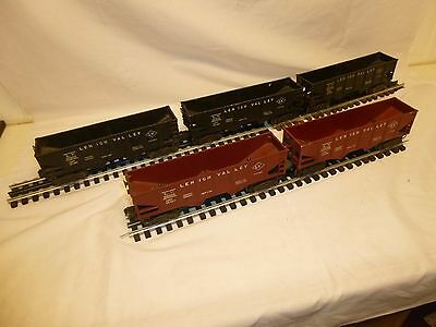 5 PIECE LOT OF LIONEL LEHIGH VALLEY HOPPER CARS, NICE LOT!