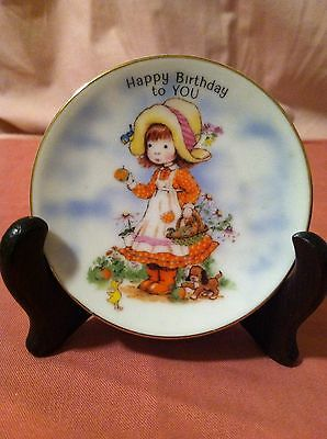 "Collectible  Japanese Import 3.5 Inch ""Happy Birthday"" Decorative Plate"