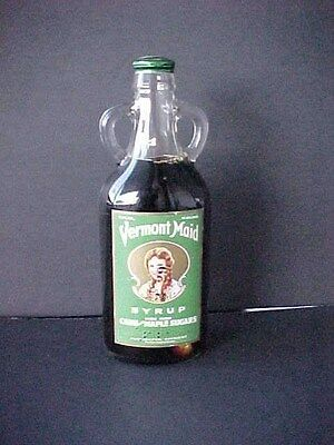 Old Vintage Rare Syrup VERMONT Advertising Bottle Not Tin UNOPENED label