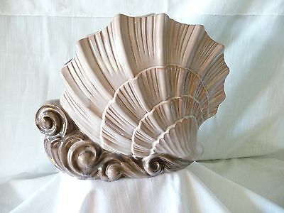 """Stangl Terra Rose Two Tone """"Scallop Shell""""  Vase # 3614"""