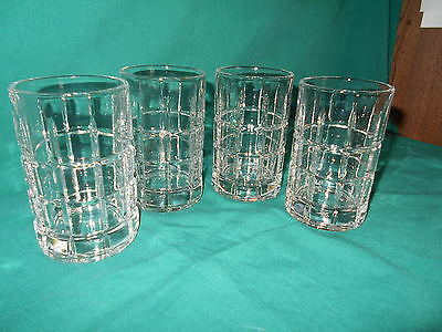 Set Of Four (4) Anchor Hocking Tartan Manchester Clear 7 oz. Juice Glasses. NEW