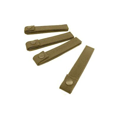 Condor Modular MOLLE Straps - 4pcs - 6in - Tactical Coyote Tan NEW