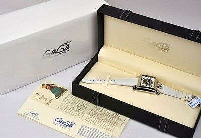 NEW GaGa Milano Napoleone Men 48mm 6000.2 Stainless Automatic Watch