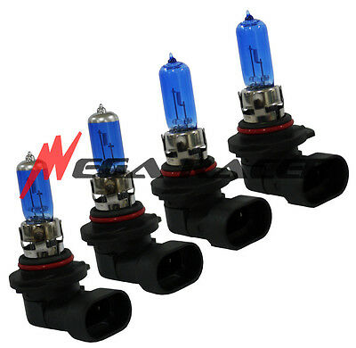 Combo 9006 9005 100/100W White Gas Halogen Headlight Bulbs #w3 Au4 Low High Beam