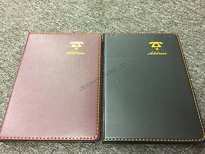 LEATHER LOOK COVER TELEPHONE &  ADDRESS BOOK 67 PAGE 13cm X 18cm