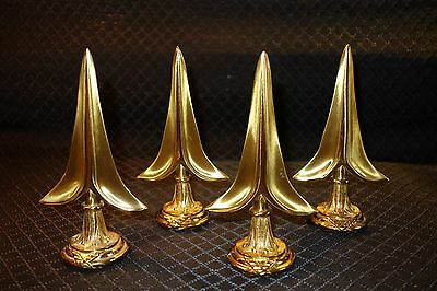 "2 PAIRS OF FRENCH EMPIRE STYLE GILT BRONZE METAL  ""ARROWS"" CURTAIN ROD FINIALS"