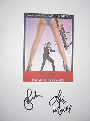 For Your Eyes Only Signed Film Movie Script X2 James Bond Roger Moore reprint