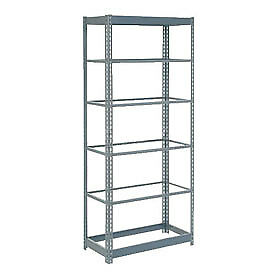 "Heavy Duty Shelving 48""W""W  x  24""D""D  x  60""H""H With 6 Shelves, No Deck"