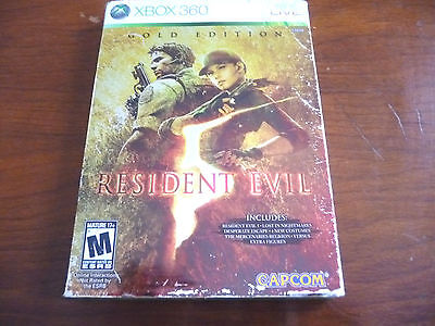 Resident Evil 5: Gold Edition  (Microsoft Xbox 360, 2010) FREE SHIPPING