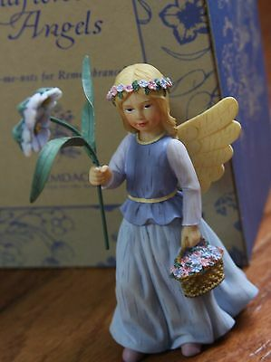 """Demdaco Wildflower Angels """"Forget-me-nots for Remembrance"""" Figurine New with box"""