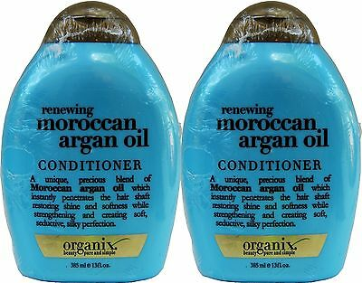 Lot of 2 Bottles Organix Moroccan Argan Oil Conditioner, 385mL Each (13 oz)