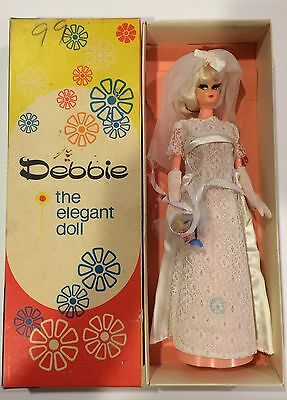 1960's Debbie the Elegant Doll With Original Box Gloves And Bouquet