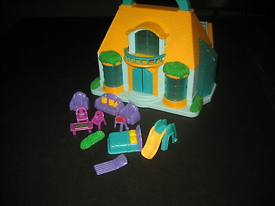 Mini Carry Along Dollhouse by Blue Box with Furniture Polly Pocket Size