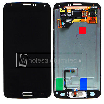For Samsung Galaxy S5 i9600 G900A LCD Screen Touch Digitizer+Home Button Flex