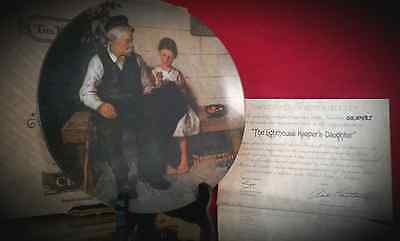 The Lighthouse Keeper's Daughter by Norman Rockwell Heritage Coll. Knowles Plate