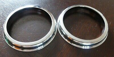 2x Land Rover Series 1 2 2a 3 Stainless Steel Lucas L488 594 Light Chrome Rings