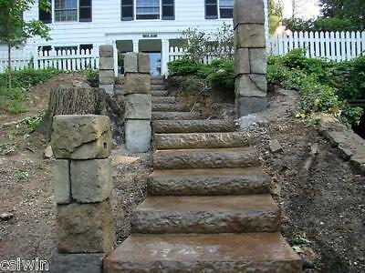 """Concrete Step Liner - Chiseled Granite for 2""""x8""""- 6 foot"""