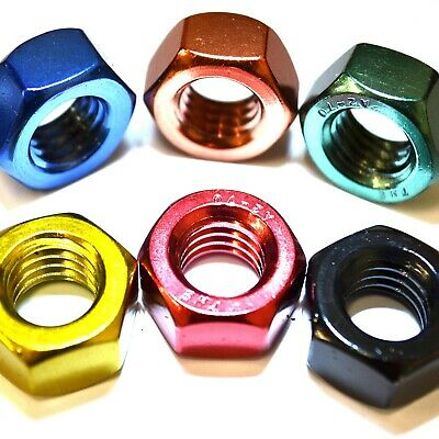 M8 GWR Colourfast® Hex Full Nuts - A2 Stainless Steel - Coloured Hexagon Nut