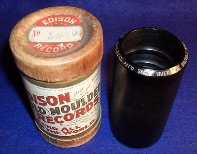 Edison 2 Minute  Cylinder Record # 8950 HARVEST MOON IS ON THE RIVER - ANTHONY