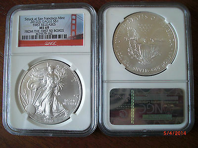 2012 (S) 1oz First Releases American Eagle NGC MS 69 *Bridge Label* From 1st 50