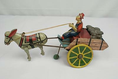 Vintage Marx Tin Wind Up Hee Haw Balky Mule Toy, Six Color Litho, Great Shape!