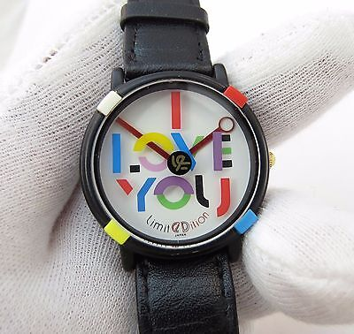 "LIMITEDITION,LE,John Zaboyan, ART ""I LOVE YOU-Abstract  Dial"",MEN'S WATCH,1165"
