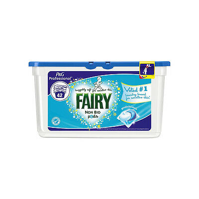 P&G Professional Fairy Non Bio Laundry Liquid Tablet Pods 2 Packs (84 Washes)