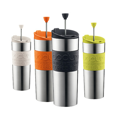 Bodum Travel Press Set Coffee Herbal Tea Maker Flask Filter Mug Press