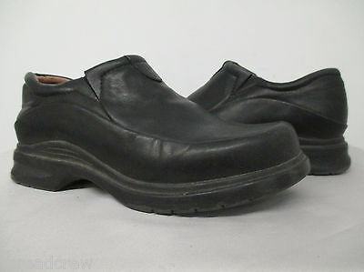 ARIAT WESTERN SLIP ON LOAFERS BLACK LEATHER WORK SHOES Rubber Sole 6.5B wms^120