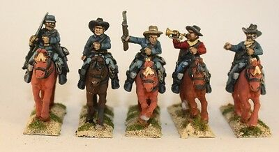 US Cavalry Cowboys Indians  28mm 25mm  Painted Foundry Old West Wild West Lot #4