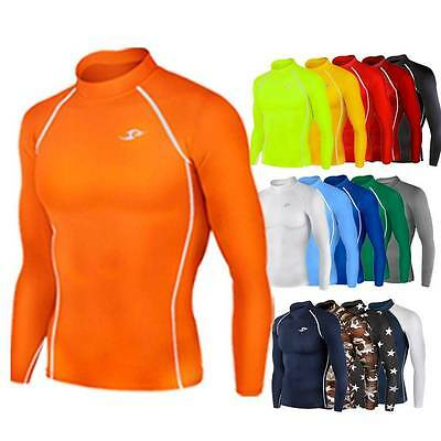 Compression Shirt Top Long Sleeve Team Kit Baselayer Lightweight AFL Gear Sports