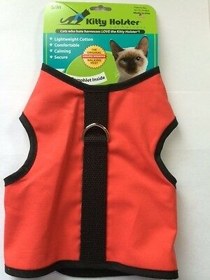 Kitty Holster Cat Harness Great for Cats Kitten Coral Made USA