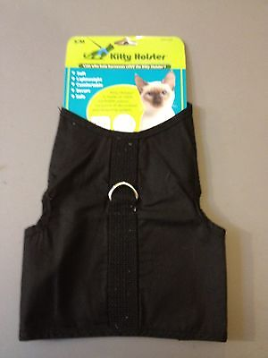 Kitty Holster Cat Harness - Great for Cats or Kitten  - Black 4 Sizes Made USA