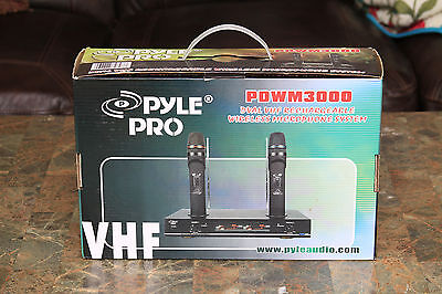 PYLE PDWM3000 PRO Dual VHF Rechargeable Wireless Microphone System