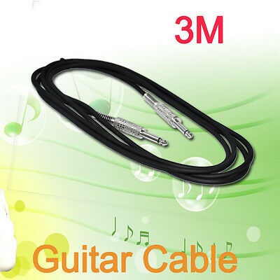 3M Quality 10FT Guitar Cable/lead with Straight Plug