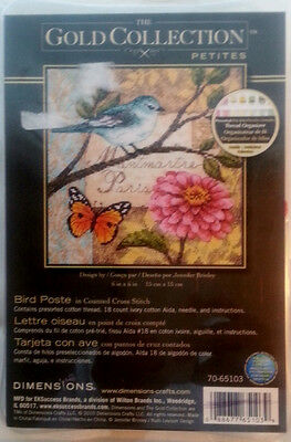 Gold Collection Petites  Counted Cross Stitch Kit   Bird Poste  #70-65103
