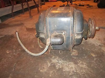 VINTAGE GENERAL ELECTRIC GE 3 HP SINGLE PHASE ELECTRIC MOTOR