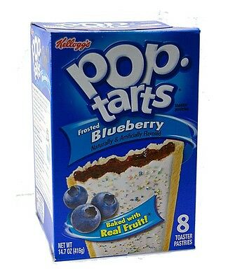 Kelloggs Pop-Tarts Frosted Blueberry (Blaubeere) USA Import 416 g