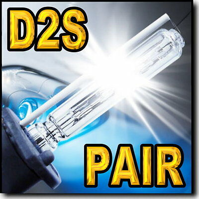 2 x D2S 6000K Xenon HID Headlight Bulbs For Stock HID Low Beam 35W.