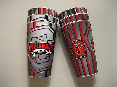 Lot/Set of 6 - NC STATE Wolfpack Capitol Cups Hologram Cup NORTH CAROLINA NCAA