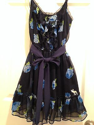 Abercrombie Chelsea Dress, Blue Floral, Small