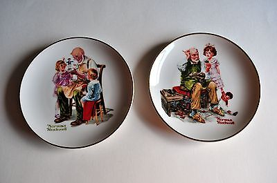"""The Toy Maker"" AND ""The Cobbler"" By Norman Rockwell Small Dishes"