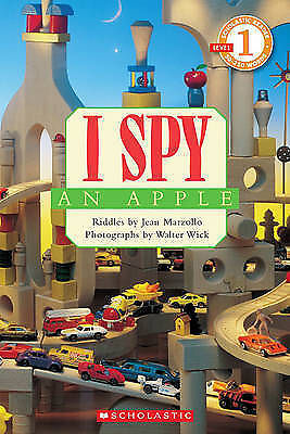 I SPY AN APPLE Level 1 Beginning Readers Riddles Children's Learn to Read Book