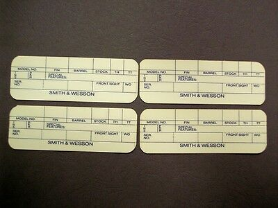 """Smith & Wesson Box Labels """"older style no dash"""""""