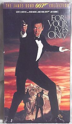 For Your Eyes Only (VHS)  1981 Bond thriller stars Roger Moore, Topol, Complete