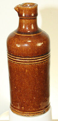 ANTIQUE STONEWARE  MASTER INK WITH POUR SPOUT SINGED
